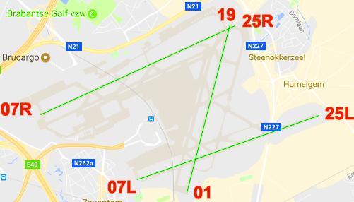banen zaventem brussels airport